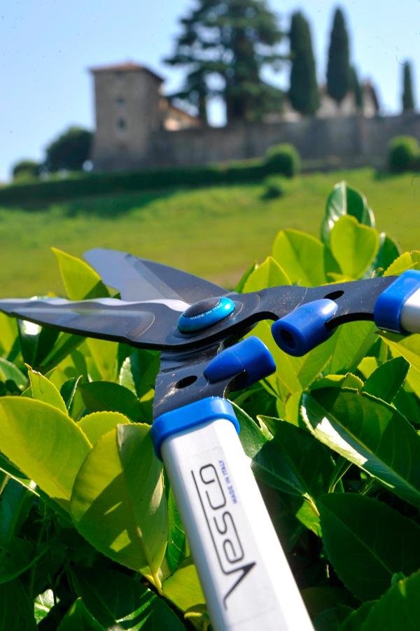 S2 - Professional hedge shears with wavy blade